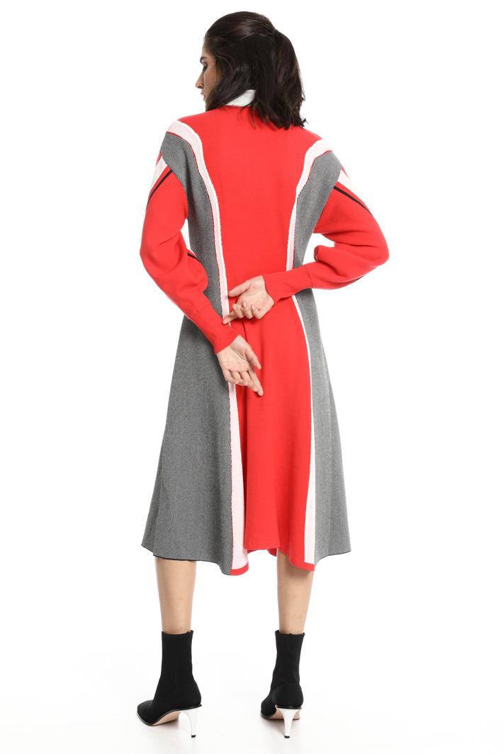 Abito in lana con intarsi Fashion Market