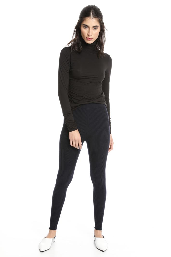 Leggings in lana a coste Fashion Market