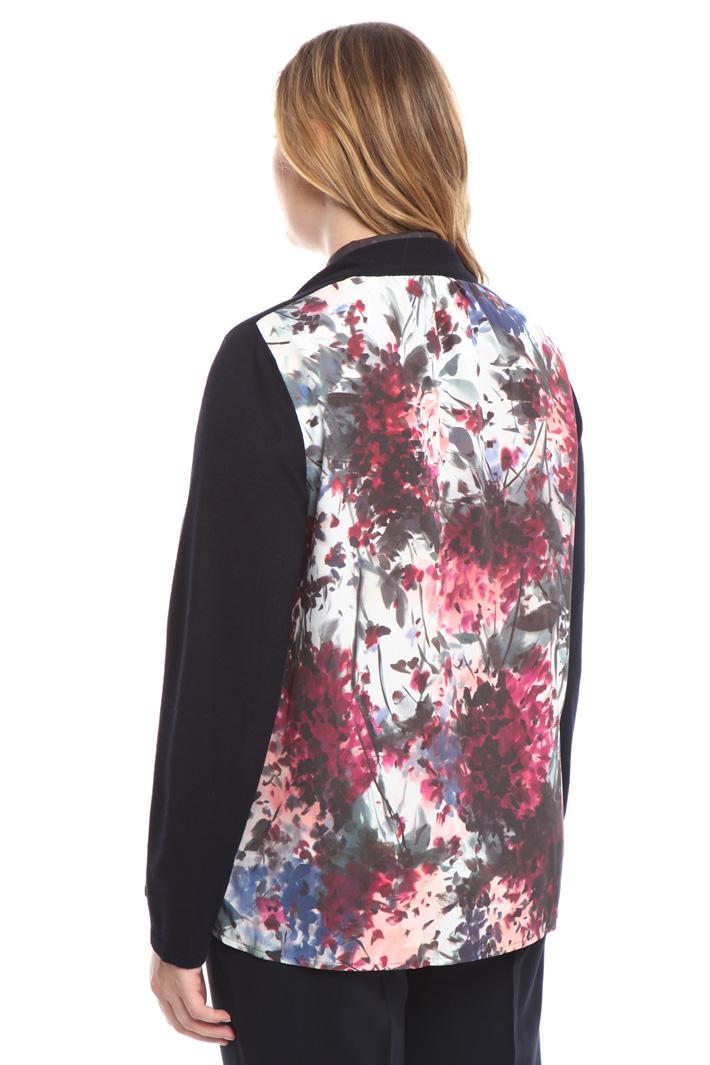 Cardigan in maglia e crepe Fashion Market