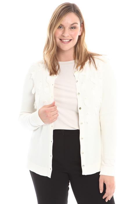 Cardigan con ricamo di petali Fashion Market