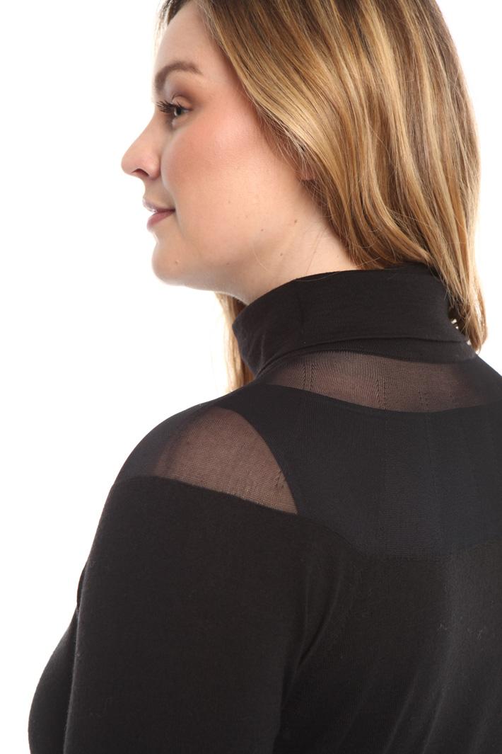 Maglia con carrè trasparente Fashion Market