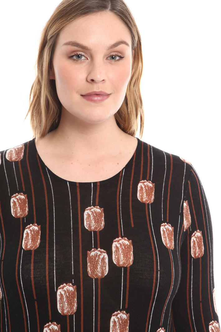 Maglia in lana stampata Fashion Market