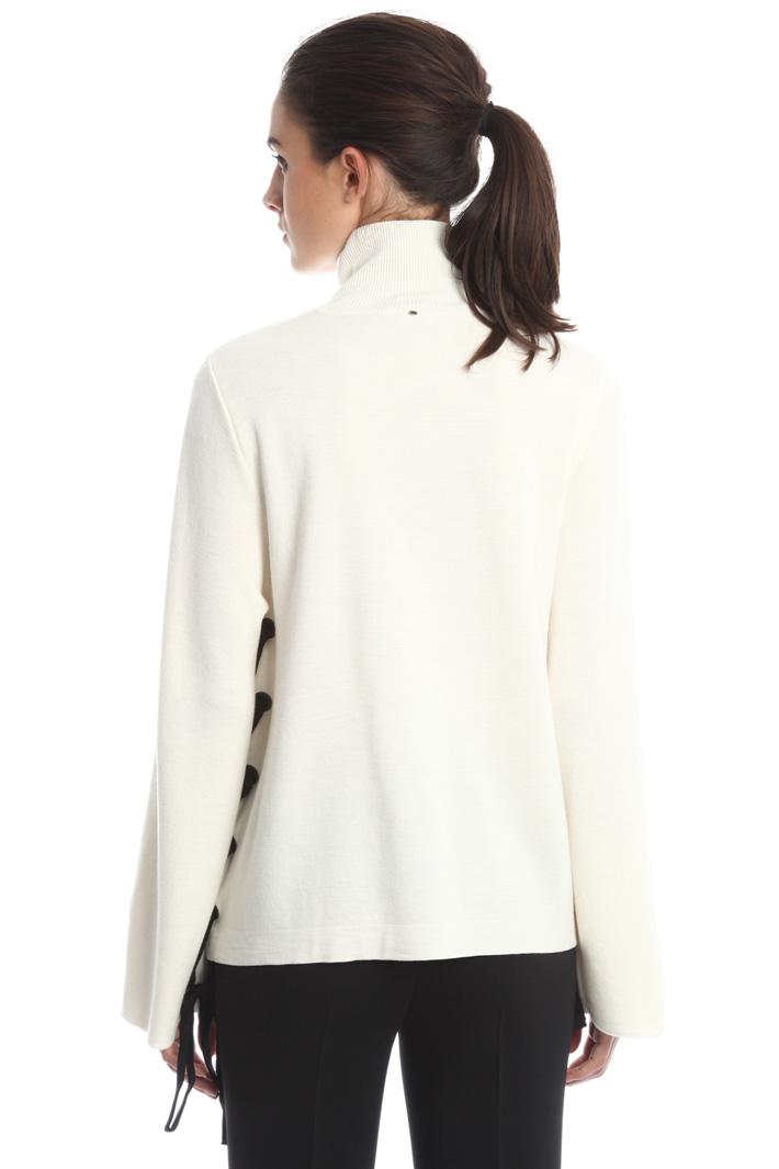 Maglia a collo alto con lacci Fashion Market