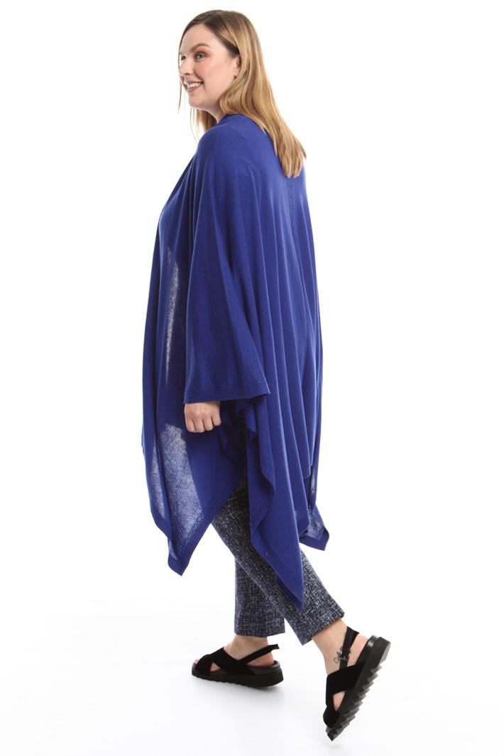 Poncho in seta misto cashmere Fashion Market
