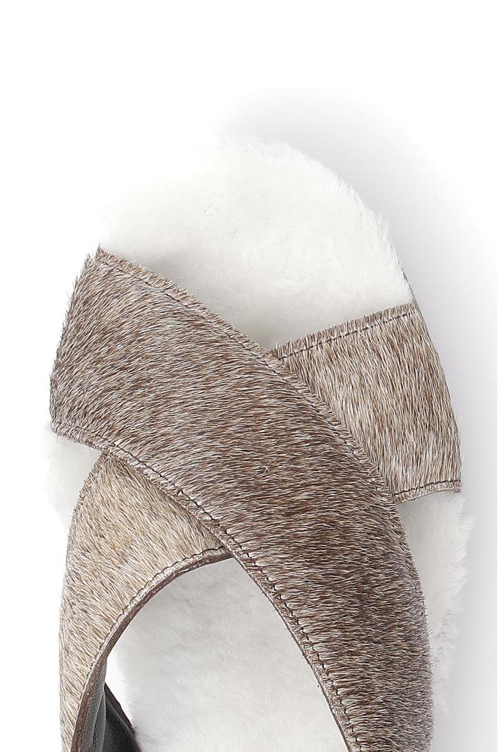 Sandalo platform in pelle  Fashion Market