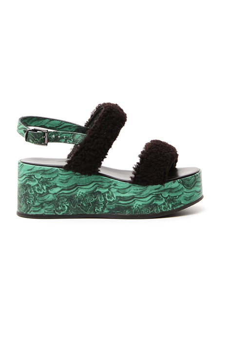 Sandalo con zeppa stampata Fashion Market