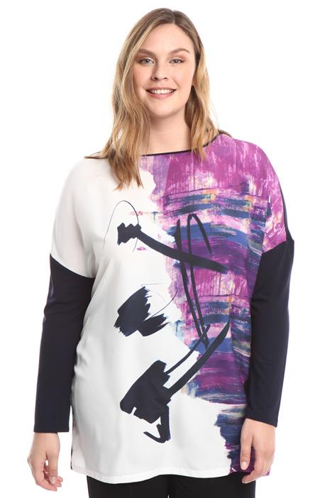 T-shirt a kimono con stampa Fashion Market