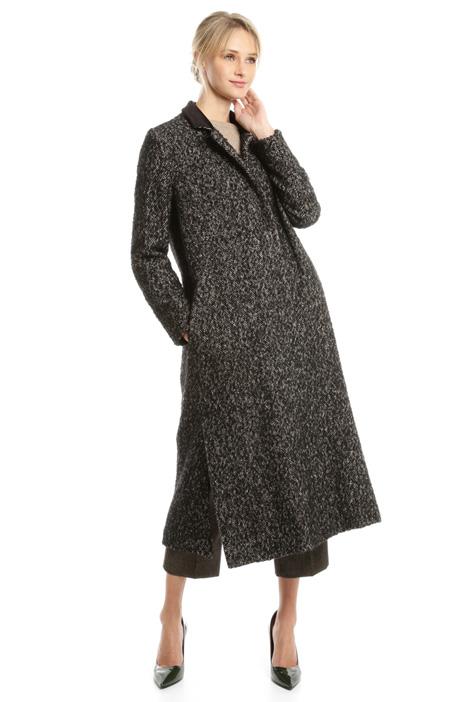 Cappotto in tweed di lana Fashion Market
