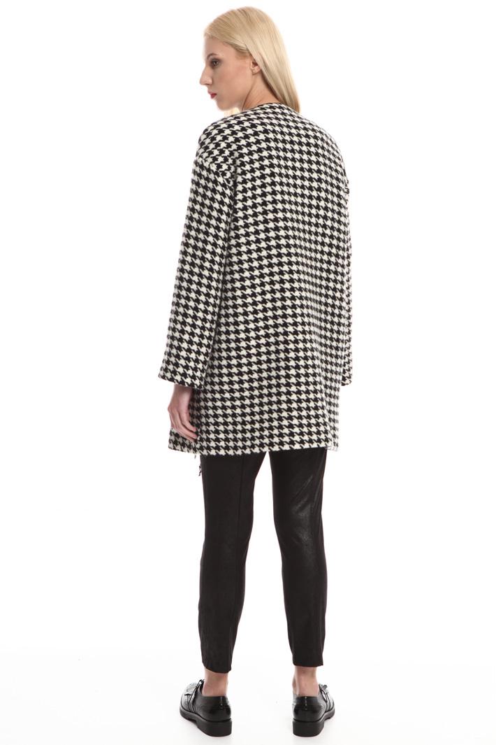 Cappotto con bordo sfrangiato Fashion Market