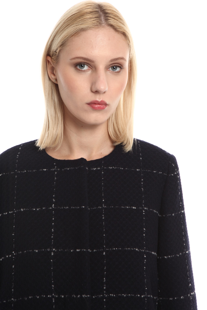 Cappotto check in lana Fashion Market
