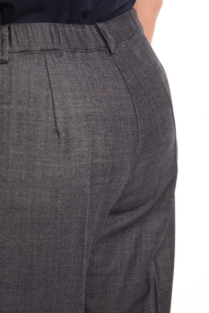 Pantalone linea dritta in lana Fashion Market