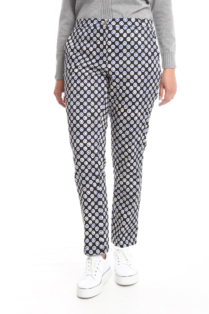 Pantalone slim in raso Fashion Market