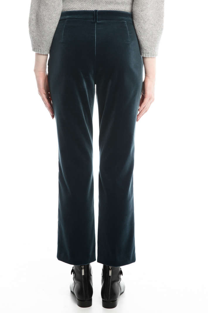 Pantaloni dritti in velluto Fashion Market
