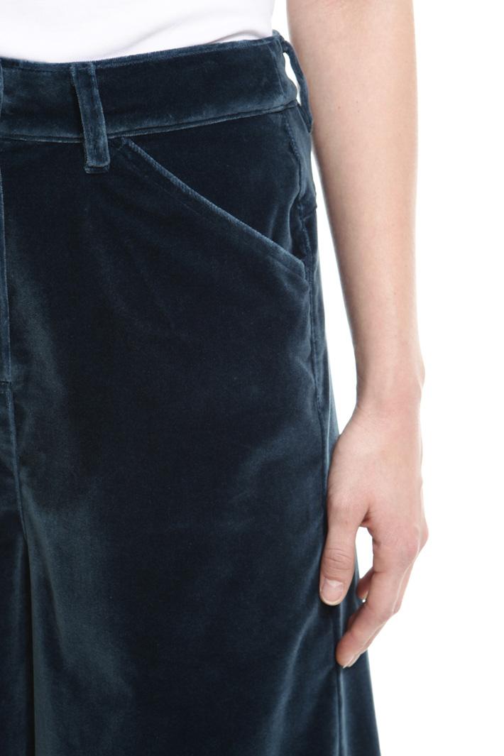 Pantalone cropped in velluto Fashion Market