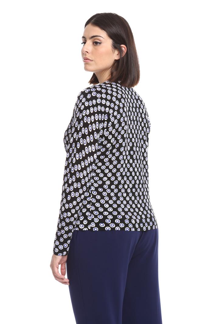 Cardigan in pura lana stampata Fashion Market