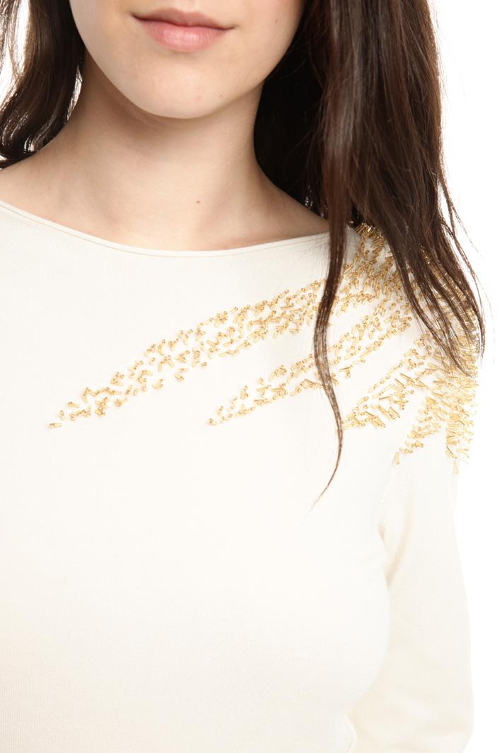 Maglia con ricamo a rilievo Fashion Market