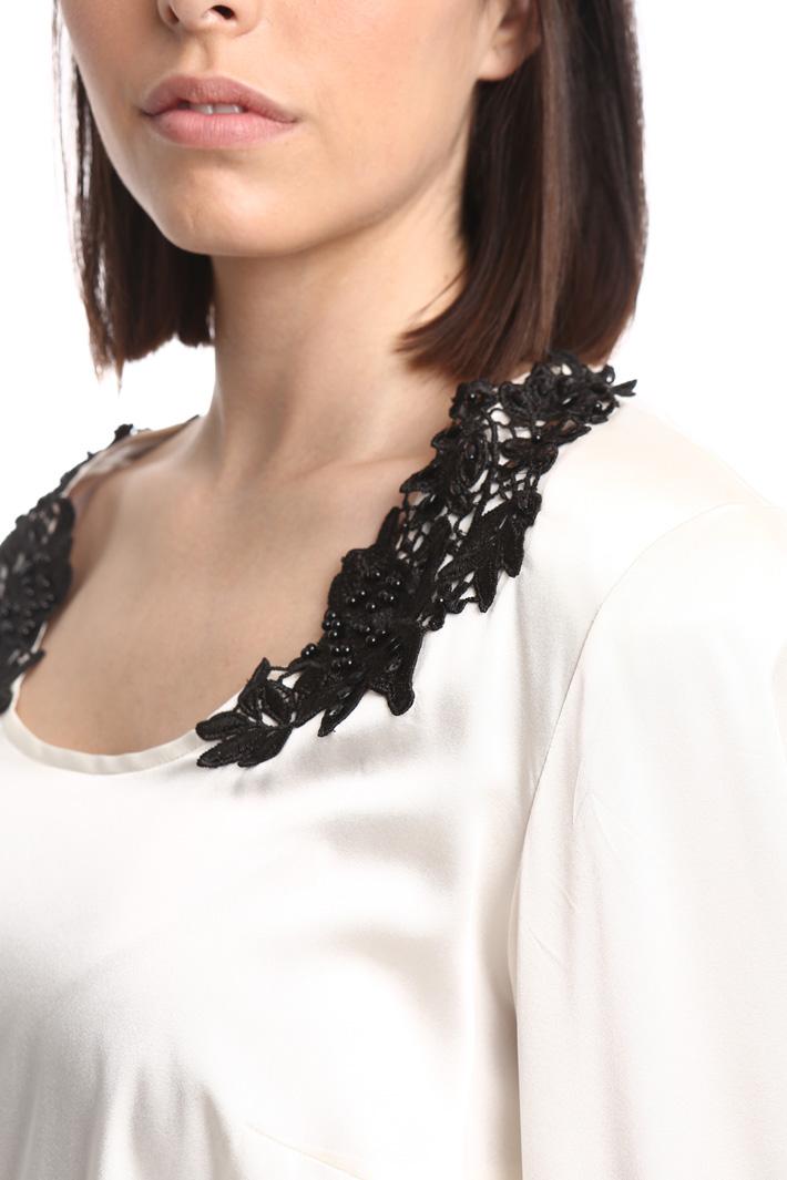 Blusa in raso di seta Fashion Market