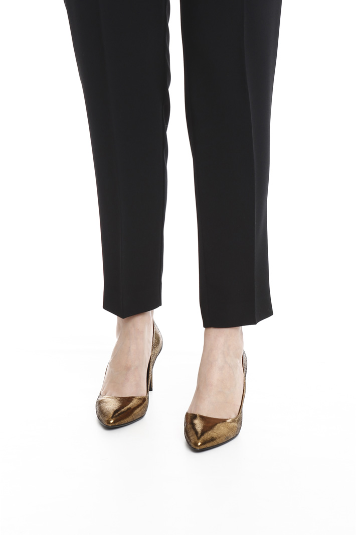 Pantalone slim in crepe Fashion Market