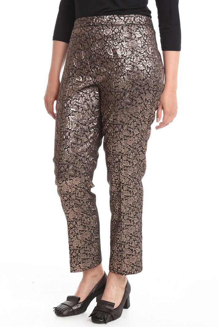 Pantalone jacquard lurex Fashion Market