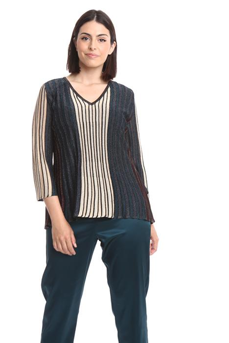 Maglia a coste in lurex Fashion Market