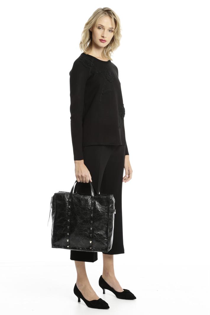Borsa shopper con borchie Fashion Market