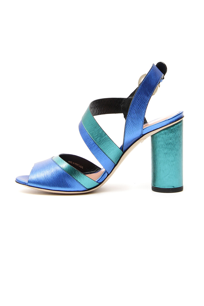 Sandali con stampa graffiata Fashion Market