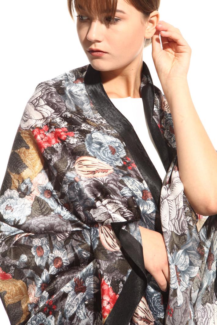 Sciarpa fantasia macro fiori Fashion Market