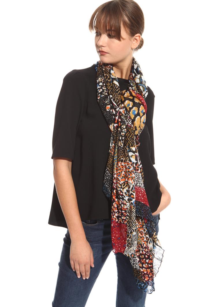 Sciarpa effetto camouflage multicolor Fashion Market