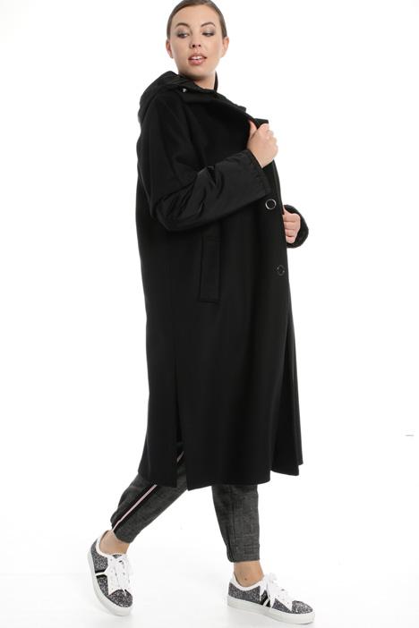 Cappotto in panno e tecnico Fashion Market