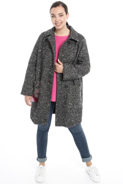 Cappotto con ricamo contrasto Fashion Market