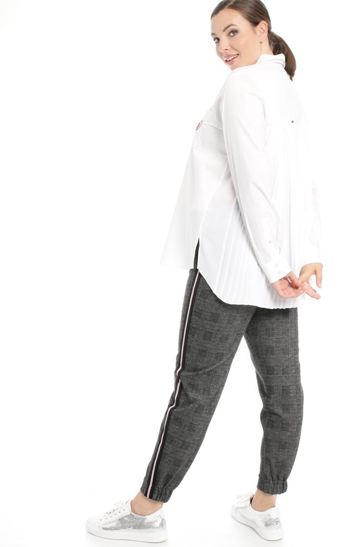 Camicia con pannello plissé Fashion Market