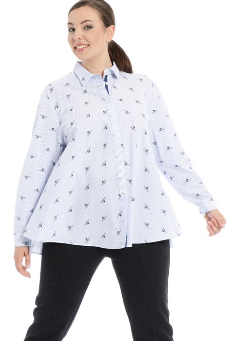 Camicia svasata in popeline Fashion Market