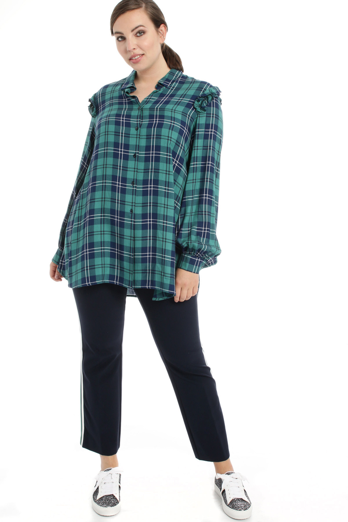 Camicia in viscosa check Fashion Market