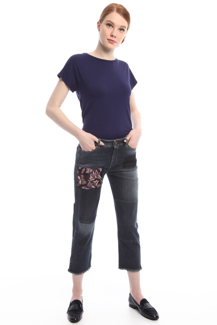 Jeans con patches Fashion Market