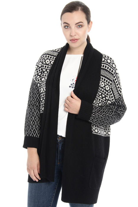Cardigan in lana jacquard Fashion Market