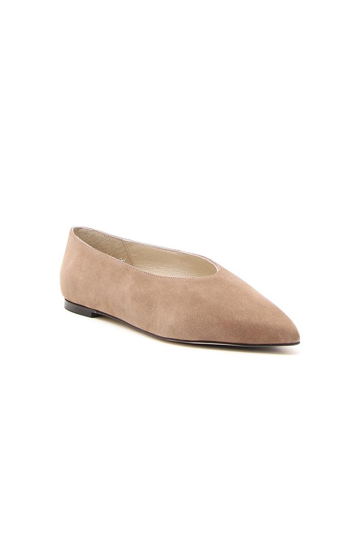 Ballerina accollata in pelle Fashion Market