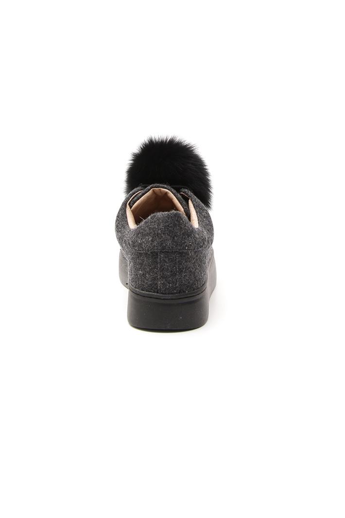 Sneakers in lana con pon-pon Fashion Market