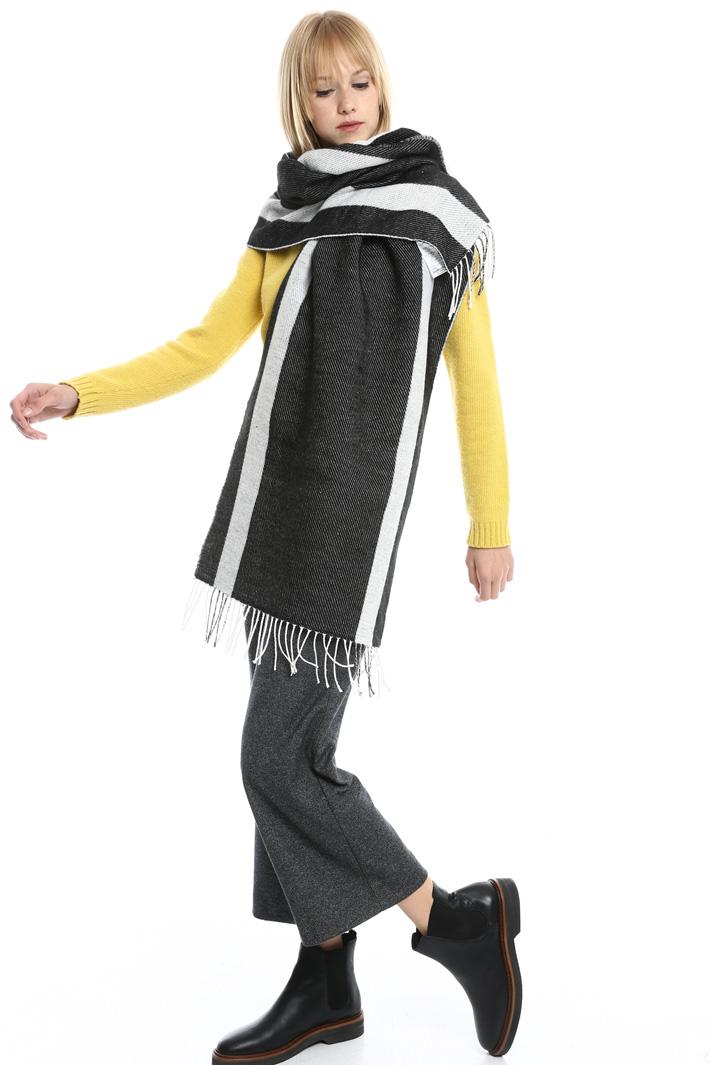 Sciarpa rigata con frange Fashion Market