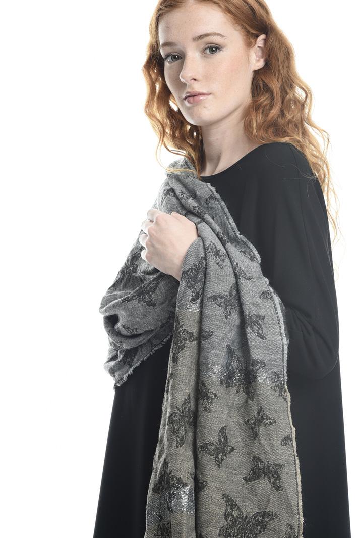 Sciarpa con riga lurex Fashion Market