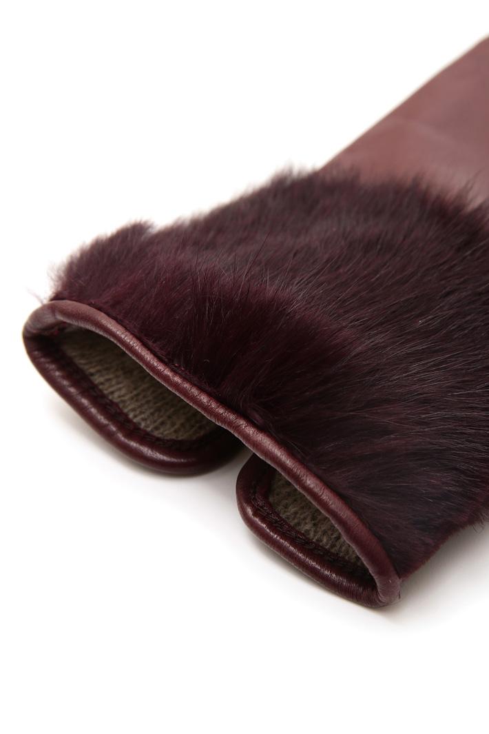 Guanti con bordo in pelliccia Fashion Market