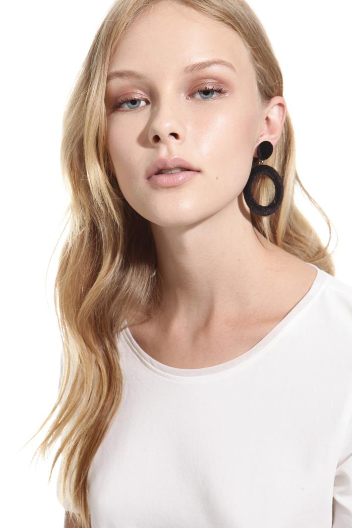 Orecchini pendenti in velluto Fashion Market