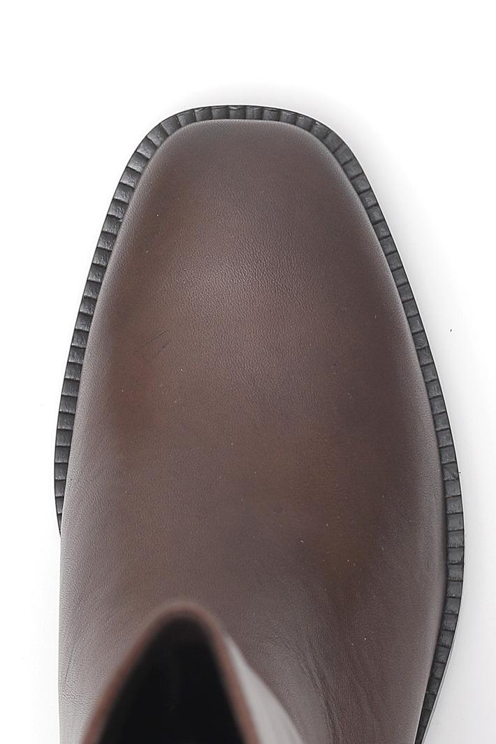 Stivali in pelle liscia Fashion Market