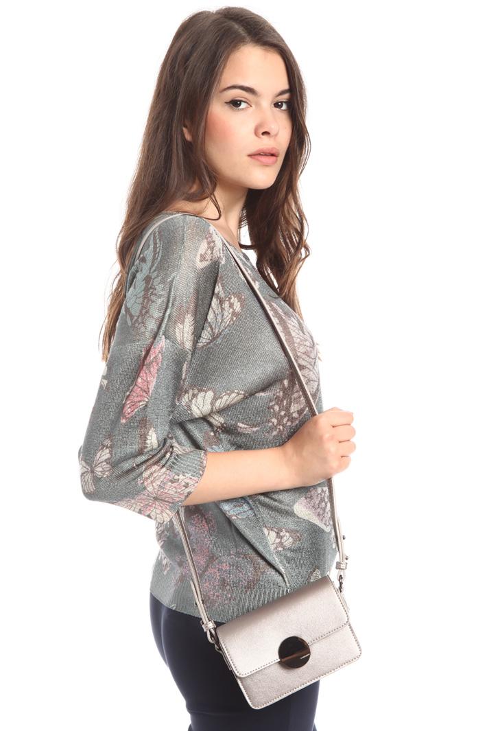 Borsa metallizata a tracolla Fashion Market