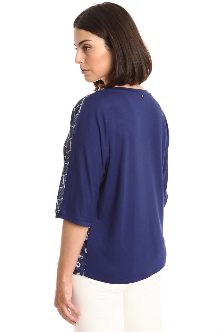 T-shirt con pannello fantasia Fashion Market