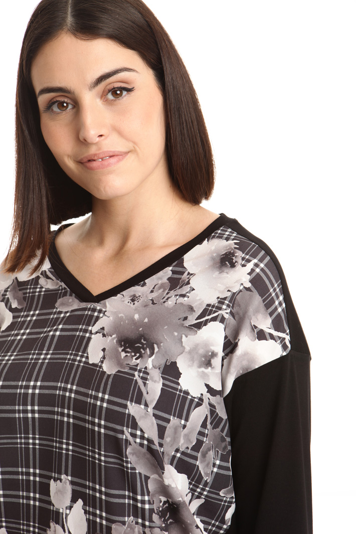 T-shirt in jersey con stampa Fashion Market