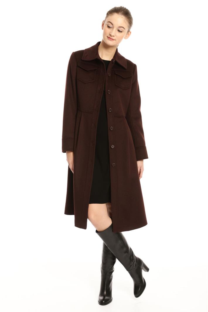 Cappotto con collo a camicia Fashion Market