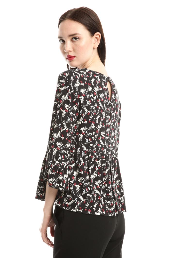 Blusa in sablé stampato Fashion Market