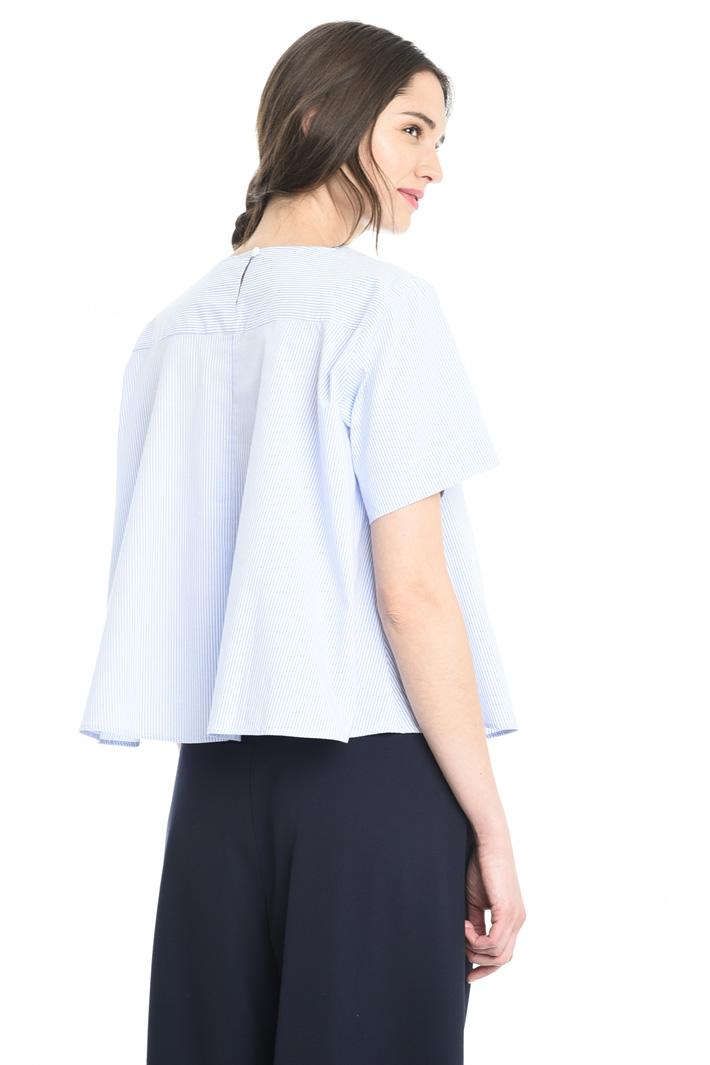 Blusa boxy in popeline Fashion Market