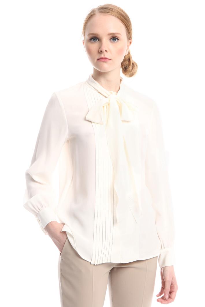 Camicia con inserto plissé Fashion Market