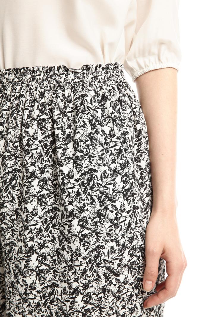 Pantalone cropped stampato Fashion Market